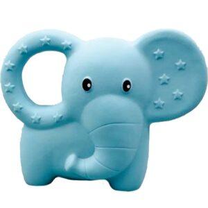 Rätt Start Bitleksak Naturgummi Elefant (Blå)