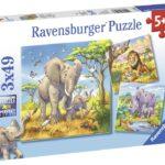 Ravensburger Pussel Vilda djur 3x49-bitar