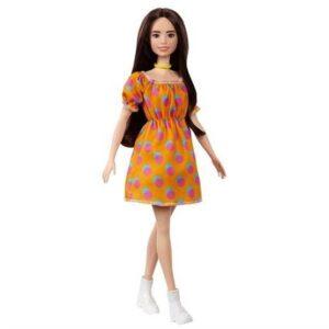 Barbie Fashionistas Docka Polka Klänning