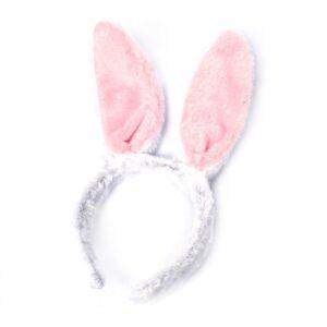 Diadem med kaninöron (Vit)