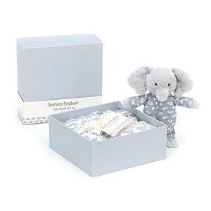 Jellycat Bedtime Elephant Gåvoset Blått 0 - 3 år