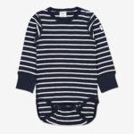 Body randig baby mörk marinblå