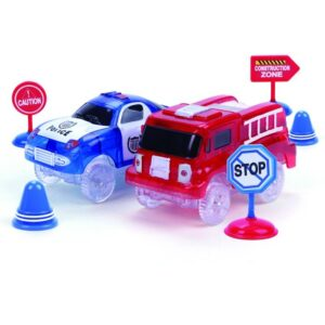 Clixtracks Polis och Brandbil med ljud och tillbehör