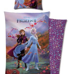 Disney Frozen 2 Påslakanset 150x210 cm Anna & Elsa (Lila)