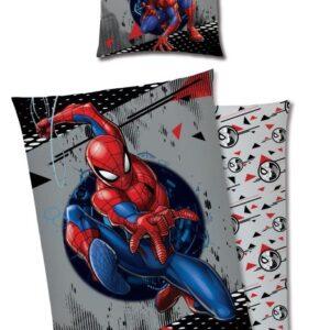 Spiderman Påslakanset 150x210 cm (Grå)