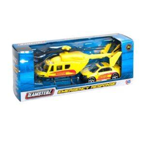 Teamsterz Utryckningsfordon Helikopter och bil (Ambulans)