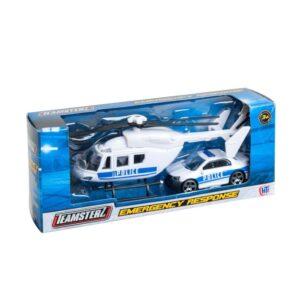 Teamsterz Utryckningsfordon Helikopter och bil (Polis)