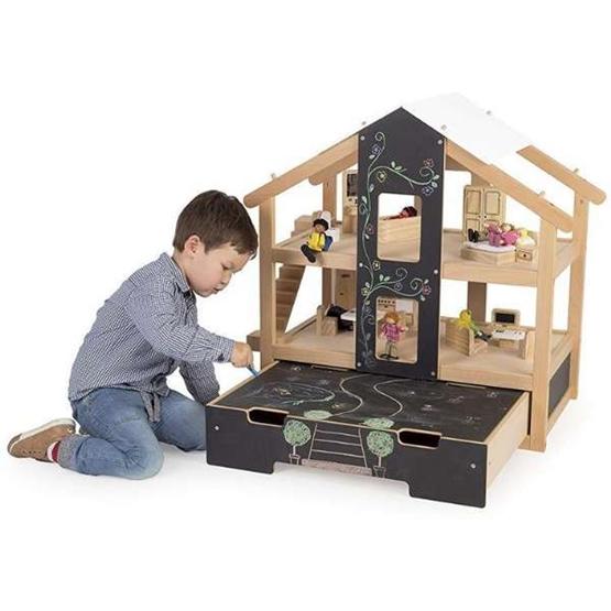 Tidlo - Dockskåk Med Möbler