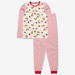 Tvådelad pyjamas med pluto-tryck vuxen vit