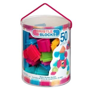 Bristle Blocks Hink med byggklossar 50 st