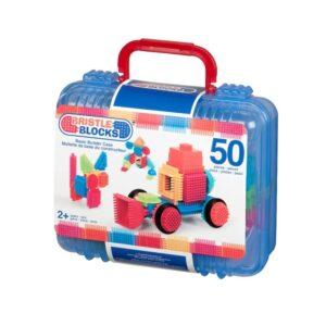 Bristle Blocks Väska med byggklossar 50 st (Blå)