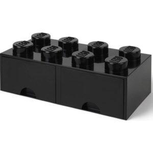 LEGO Förvaringsbox 8 med lådor (Svart)