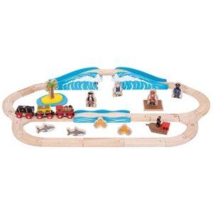 Bigjigs - Tågbana - Pirate Train Set