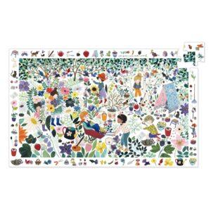 Djeco - Pussel - Observation puzzle - 1000 flowers, 100 pcs