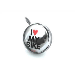 Liix - Liix Mini Ding Dong Bell I Love My Bike Chrome
