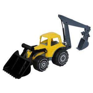 Plasto, Traktor med frontlastare och grävare