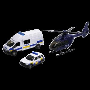 Polisbilar och Polishelikopter Leksaksfordon 1:48