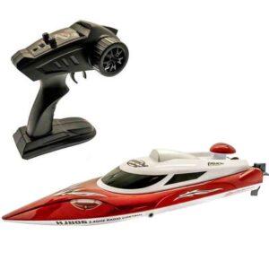 Radiostyrd båt Nitro SpeedBoat Med LED-Ljus Röd Gear4Play 30 km/h - 2,4 Ghz
