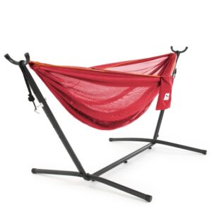 Vivere - Mesh Hammock With Stand (250 Cm) - Punch/Peach