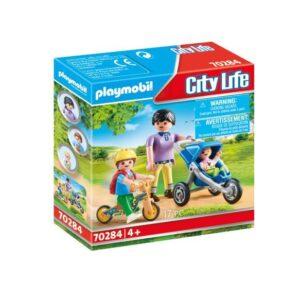 Playmobil City Life Mamma med barn 70284