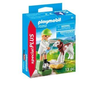 Playmobil Country Veterinär med kalv 70252