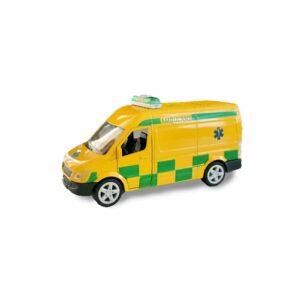 Ambulansbil i metall med ljud o ljus