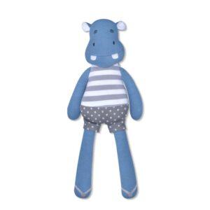 Apple Park Farm Buddies Mjukisdjur Jojo Flodhäst EKO (Blå)