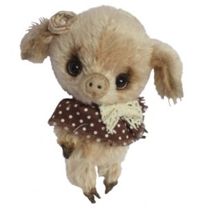 Clemens - Stuffed Pig Grushky Junior 12 Cm Plush Beige