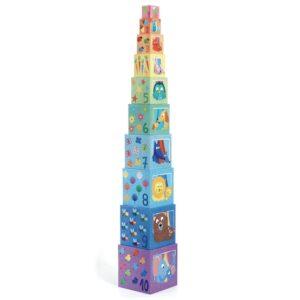 Djeco - Byggklossar 10 St - Rainbow blocks