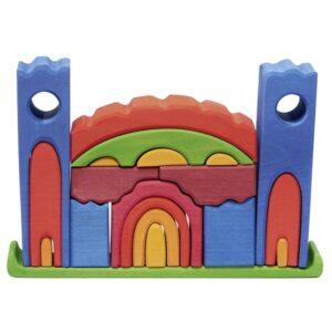 Glackskafer - Wooden Castle 27 Cm Mångfärgad 22-Piece
