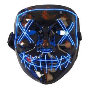Joker Mask med Ledljus (Blå)