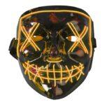 Joker Mask med Ledljus (Orange)