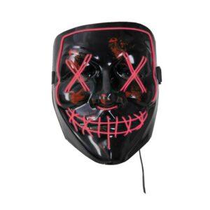 Joker Mask med Ledljus (Röd)