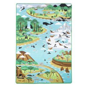 Jumbo - World Trip Playmat With Animals 200 X 147 Cm