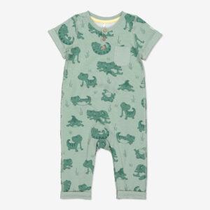 Overall med tryck baby grön