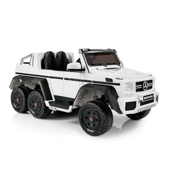 Rull Elbil - Mercedes G63 6x6 12V - Vit