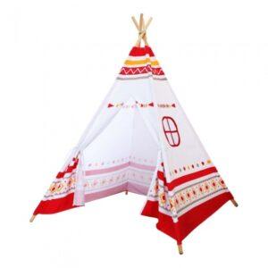 Sunny - Tepee Tent Led160 Cm Vit/Röd/Gul