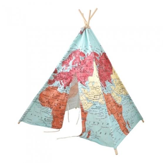 Sunny - Tipitent World Map 160 Cm Mångfärgad