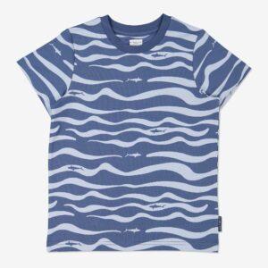 T-shirt med havstryck blå