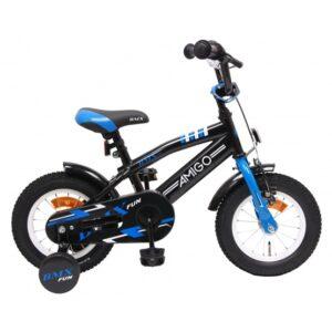 AMIGO Amigo - BMX Cykel - Bmx Fun 12 Tum Blå/Svart