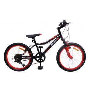 AMIGO Amigo - Mountainbikes - Attack 20 Tum 6 Växlar Svart/Röd