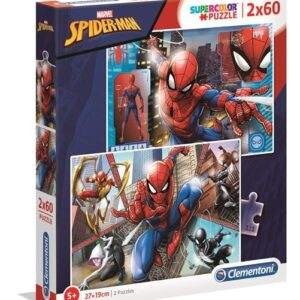 Clementoni Marvel Pussel 2x60-bitar (Spider-Man)