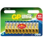 GP Batteri AA Ultra Plus 10 st