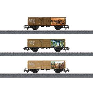 Marklin - Tåg Vagnset Jim Knoop 1:87 Steel Brun