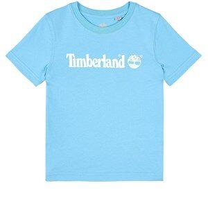 Timberland Logo T-shirt Turkos 4 år