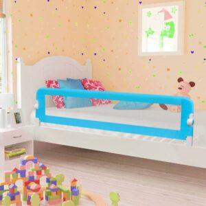 VidaXl Sängskena För Barn Blå 180X42 Cm Polyester