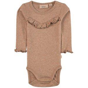 Wheat Rib Ruffle Baby Body Khaki Melange 68 (6 months)