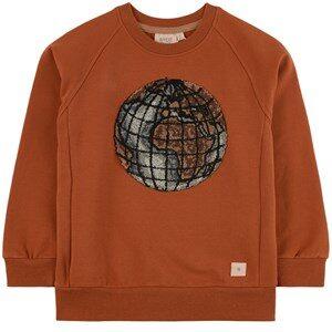 Wheat Terry Globe Sweatshirt Cinnamon 98 (3 years)
